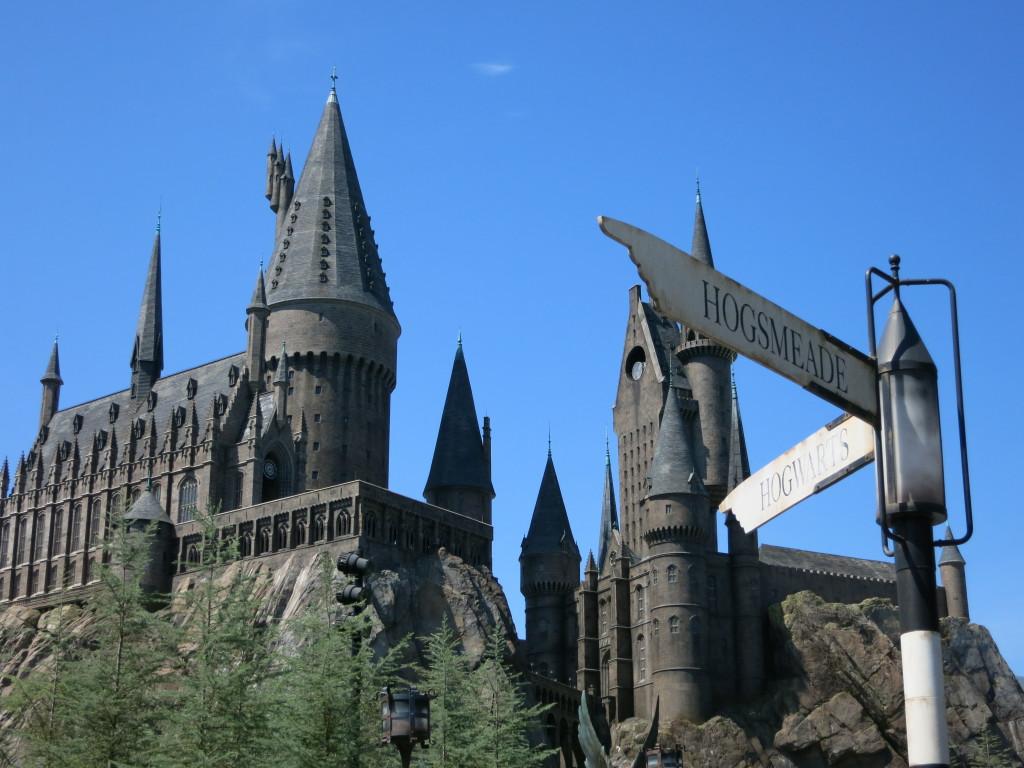 Looking up at Hogwarts