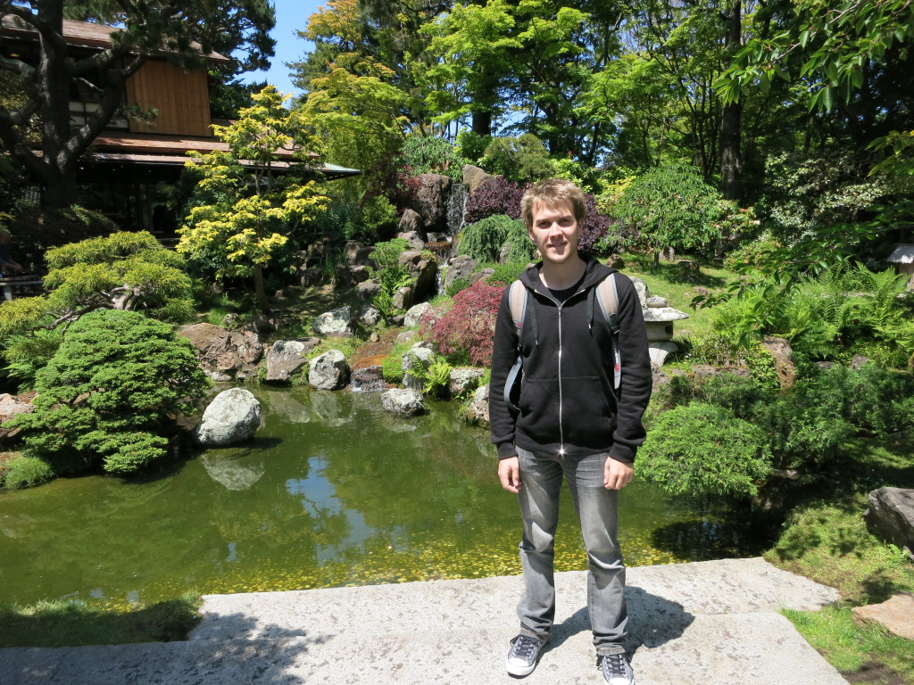 The pond in front of the Japanese Tea House