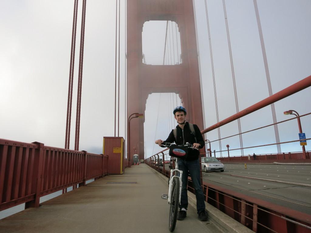 Atop the Golden Gate Bridge