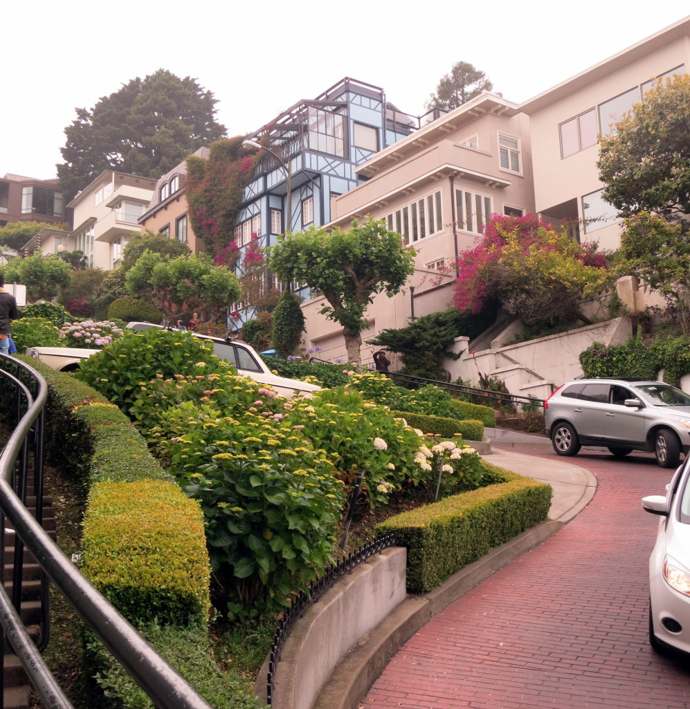 Looking back up Lombard Street