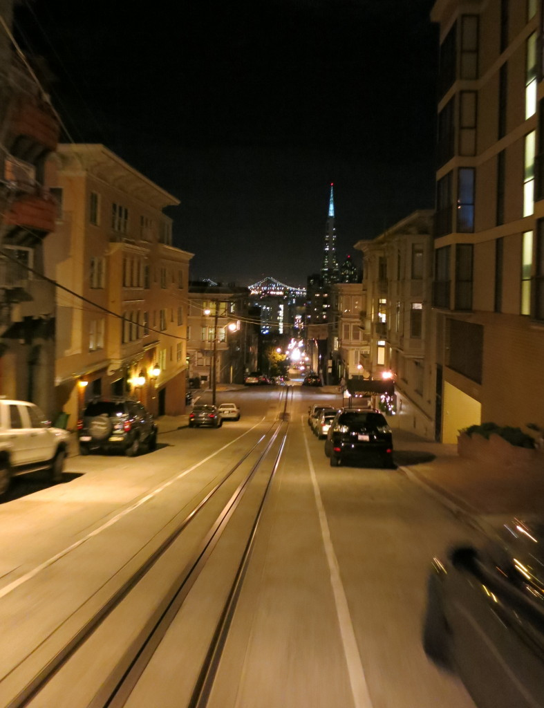 Cable car ride home to my hotel