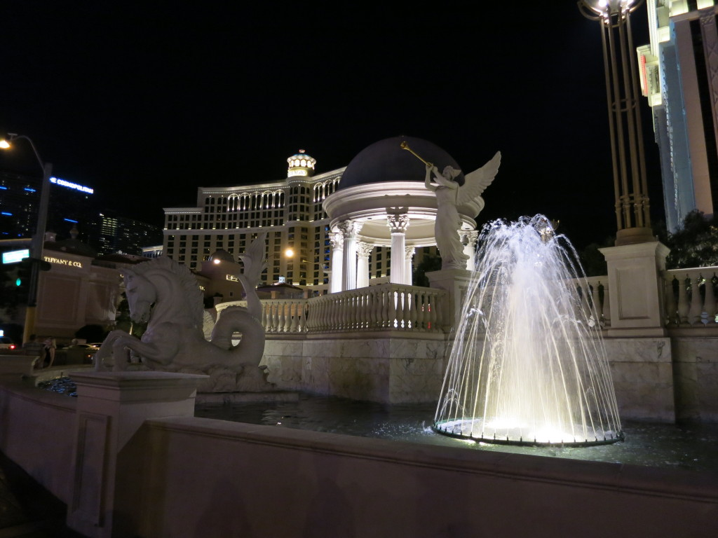 Fountains outside Caesar's Palace