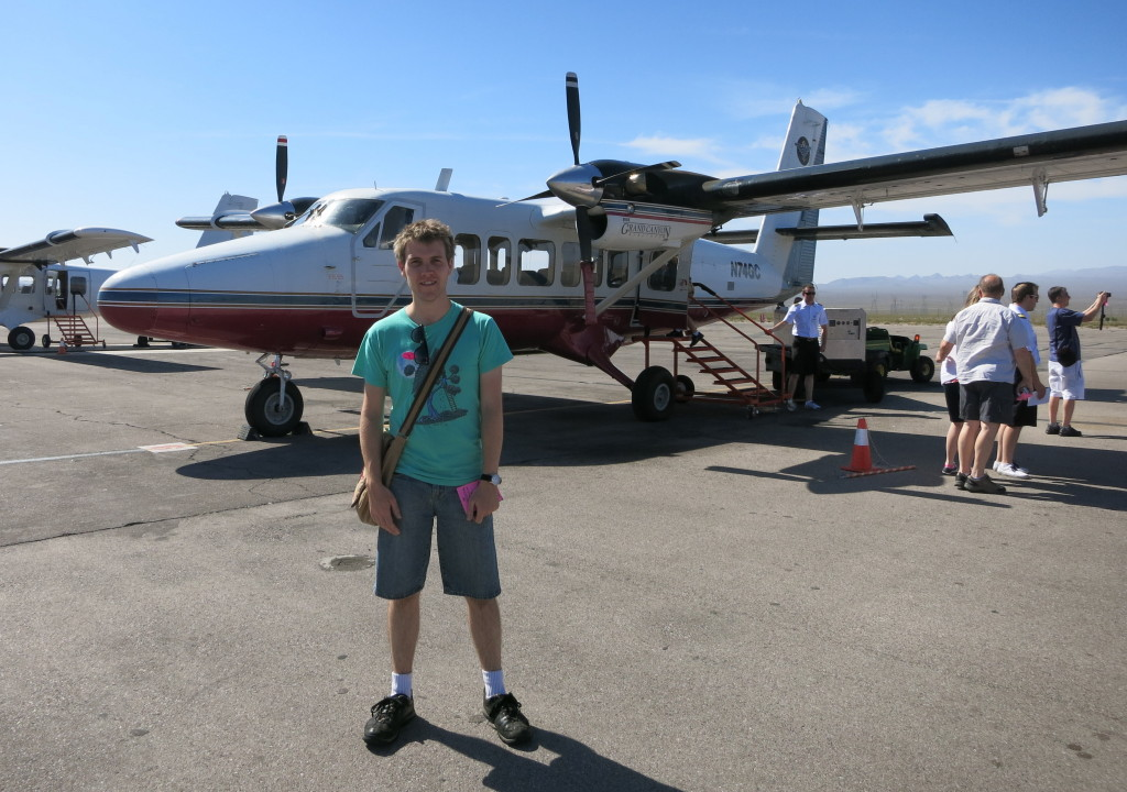 The light plane we flew in to the Grand Canyon