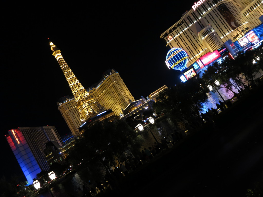 Looking across at Paris from the Bellagio