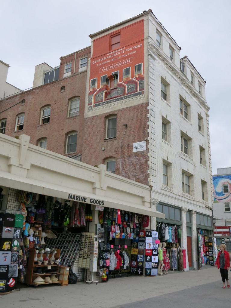 Shops along the side of Venice Boardwalk
