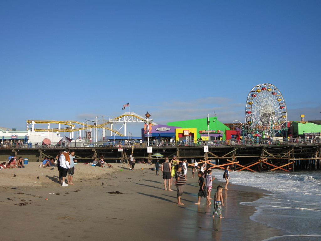 Back at the Santa Monica Pier