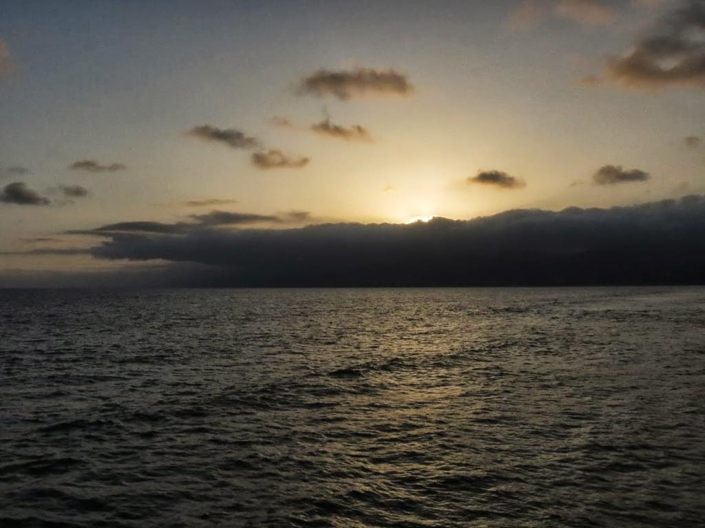 Sunset over Santa Monica beach