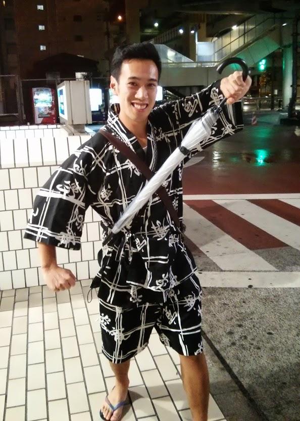 Ron in his kimono