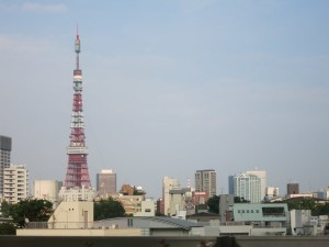 View of Toykyo Tower from Roppongi Hills