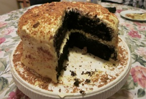 Chocolate cake with Baileys Cream Cheese Icing