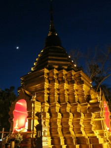 Wat Pan Tao at night