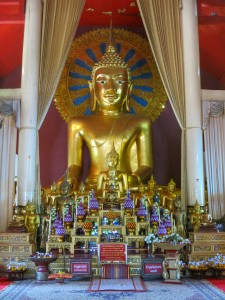 The buddha at Wat Phra Singh