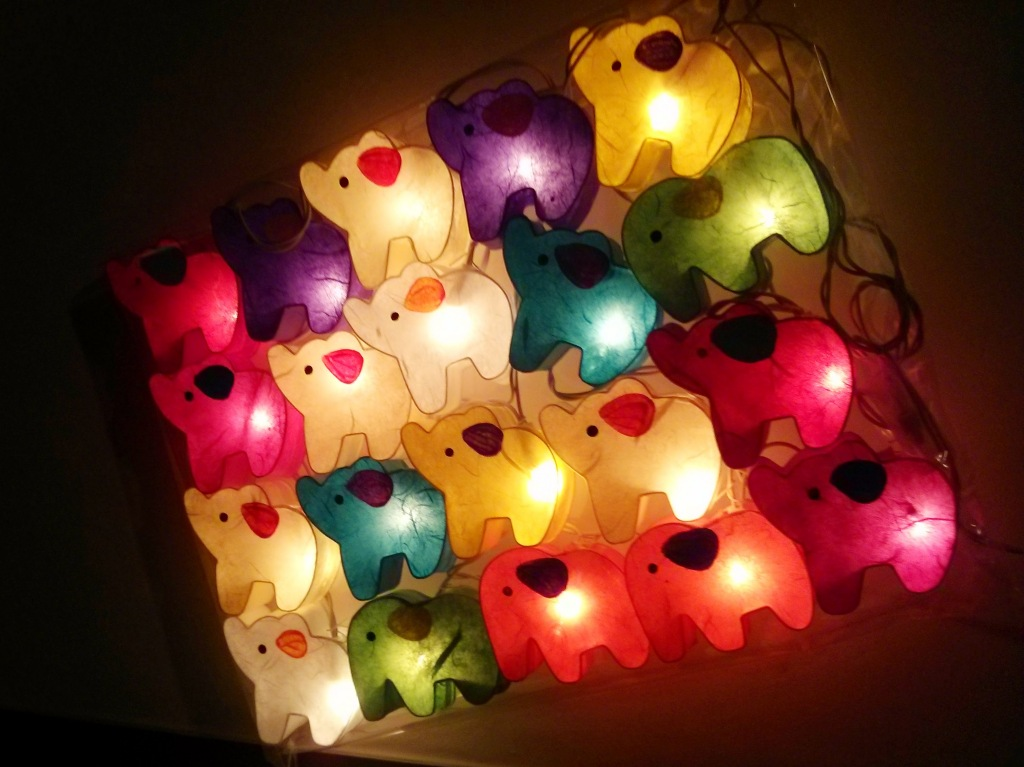 Elephant fairy lights