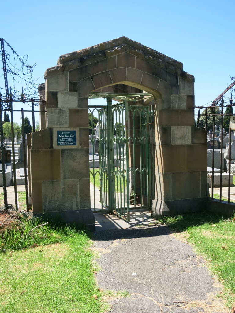 Gate to Melbourne General Cemetery
