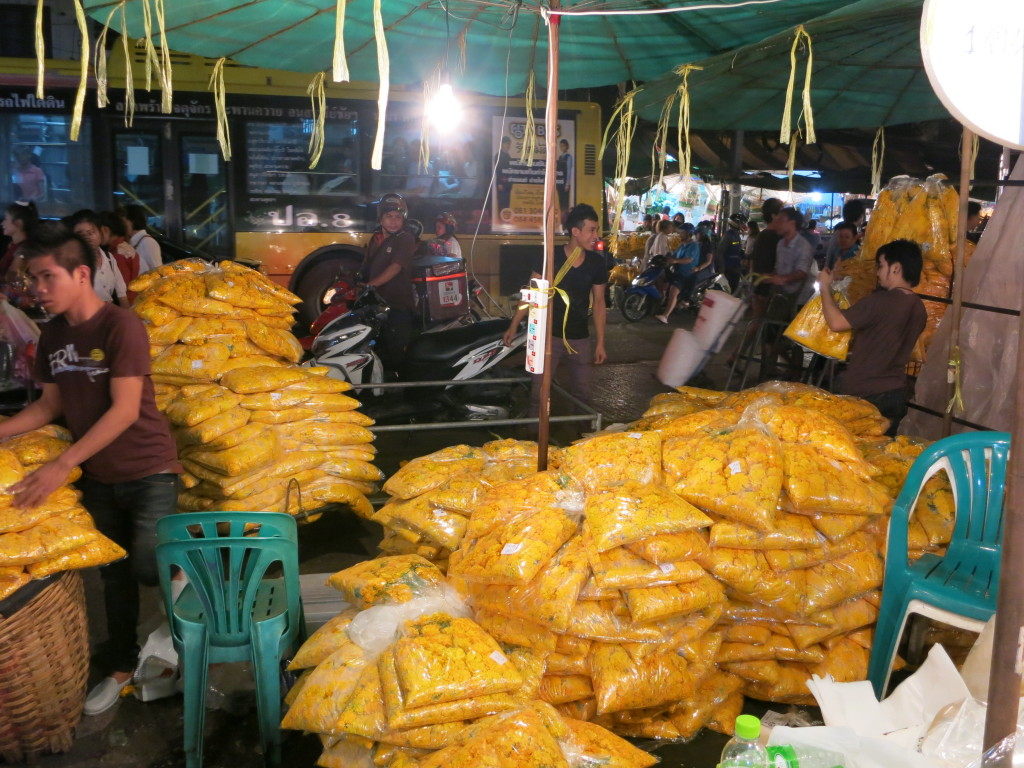 Bags of marigolds