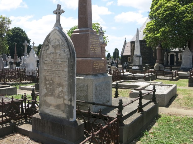 The two O'Connell graves located at Melbourne General Cemetery