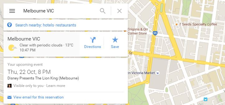 Maps reminds me of an upcoming event in Melbourne