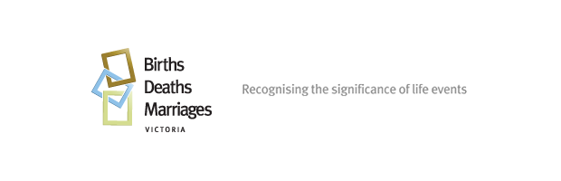 Victorian Registry of Births Deaths and Marriages - logo